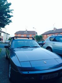 Porsche 944 with roof transport system (OEM roof rack ...