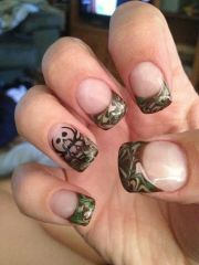 camo nails. heck yea bone collector