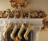 Gold and Bronze Christmas stockings   Vintage Champagne ...