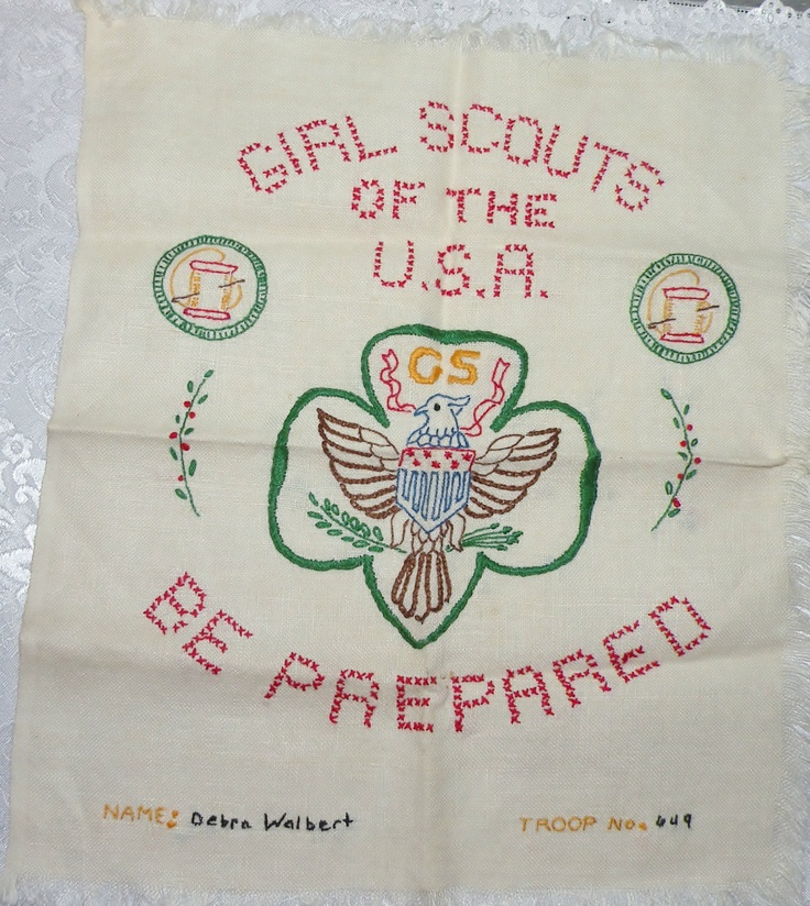 27 Best Images About Cross Stitch Boy Girl Scouts On
