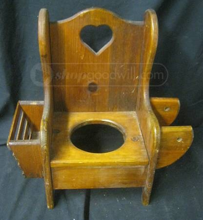 Antique Wood Childs Potty Chair  Privy  Loo  Outhouse
