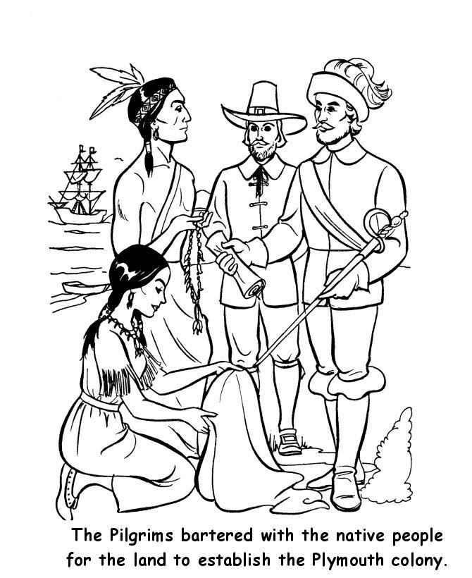 Plimoth Plantation Coloring Pages Sketch Coloring Page