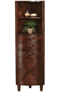Tall Corner Linen Cabinet - WoodWorking Projects & Plans