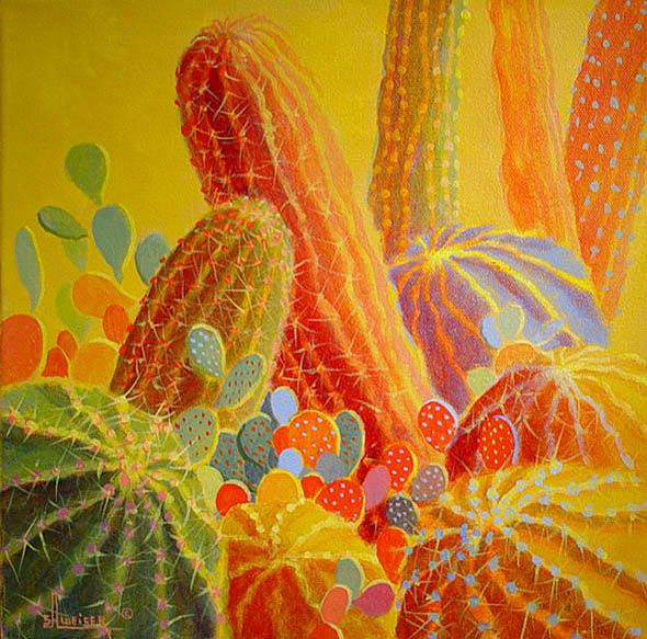 Desert Blooms 22 Southwestern Painting By Sharon