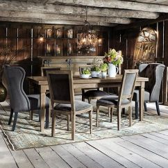 Farmhouse Tables And Chairs Leather Lounge Chair With Ottoman Luciano 54