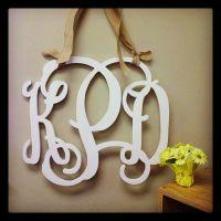 16-inch Painted Wooden Monogram, Wedding Monogram, Front ...
