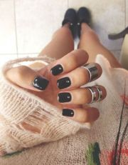 beautiful dark nail polish ideas