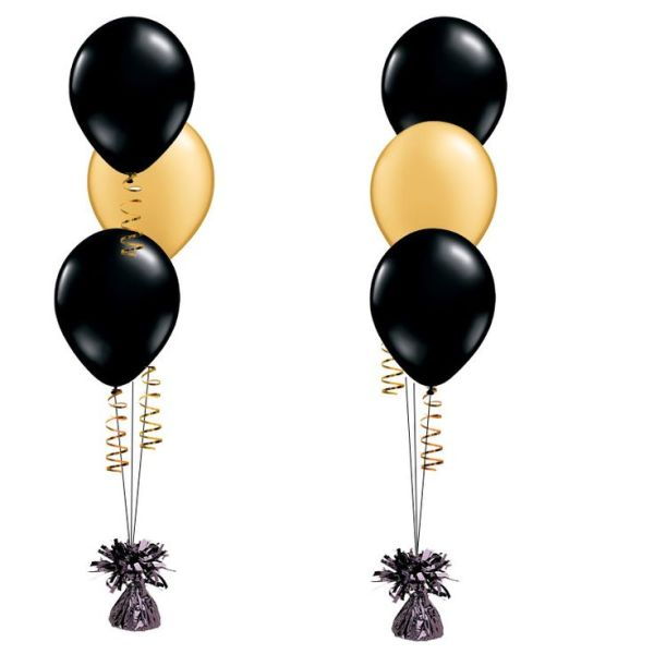 1x black and gold latex balloon