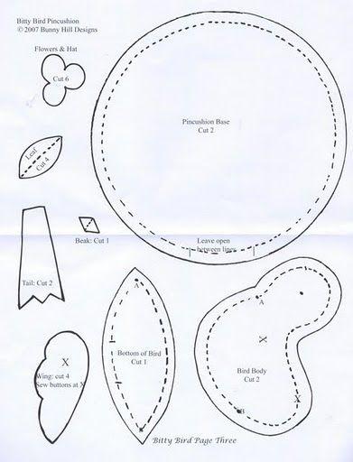 Bunnies, Felt pincushions and Pincushion patterns on Pinterest