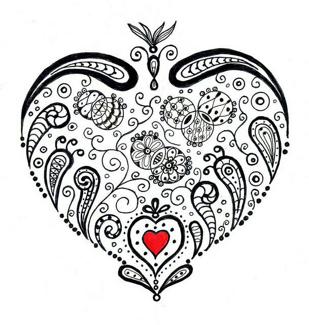 135 best images about Hearts + Love Coloring Pages for