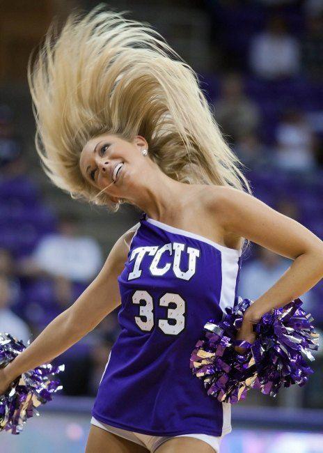 TCU Horned Frogs cheerleader  Cheerleading  Pinterest