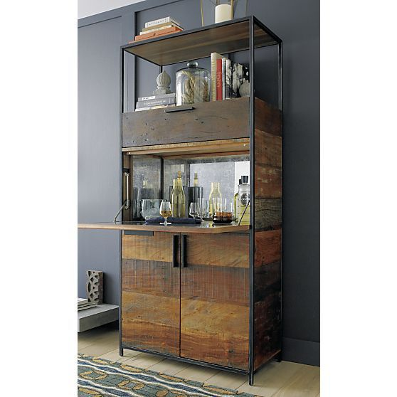 Clive Bar Cabinet  Crate and Barrel  Drinks cabinet