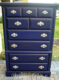 Midnight Navy Blue Chest of Drawers #distressed #painted ...
