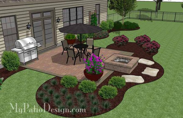 landscaping square patio
