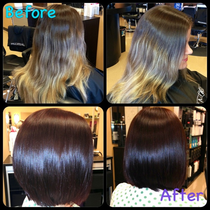 Before and After Stacked long bob  Things Ive Done  Pinterest  Colors Bobs and Love