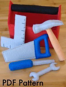 DIY toy boxes | Tool Box Set Hammer Toy Pretend DIY Felt Sewing Pattern | eBay