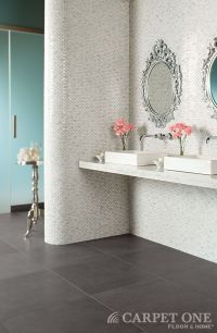 Large scale gray tiles are sleek and modern. Daltile ...