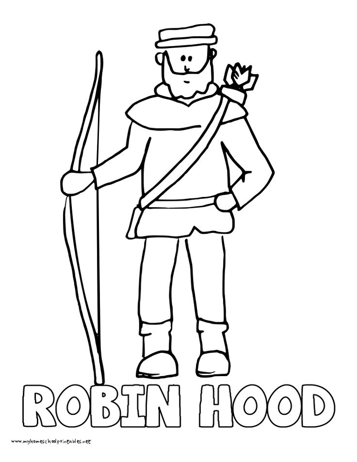 World History Coloring Pages Printables Robin Hood Robert