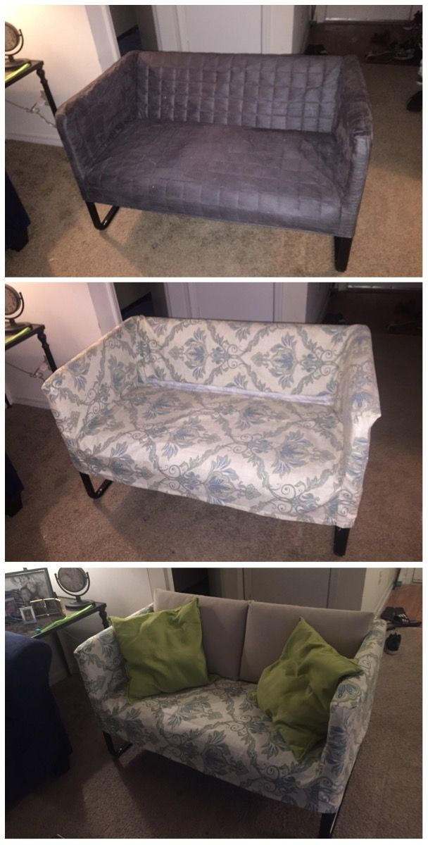 white chair covers ikea discounted accent chairs so i made a slip cover out of curtains for my knopparp loveseat from ikea, the legs had ...