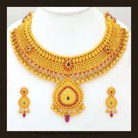 Gold Bridal Attigai Necklace Set From VBJ   Necklace ...