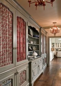 Each cabinet front in this butlers pantry features a ...