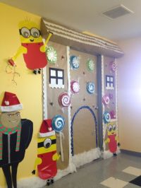 Christmas Minion Gingerbread Door Decorations | Christmas ...