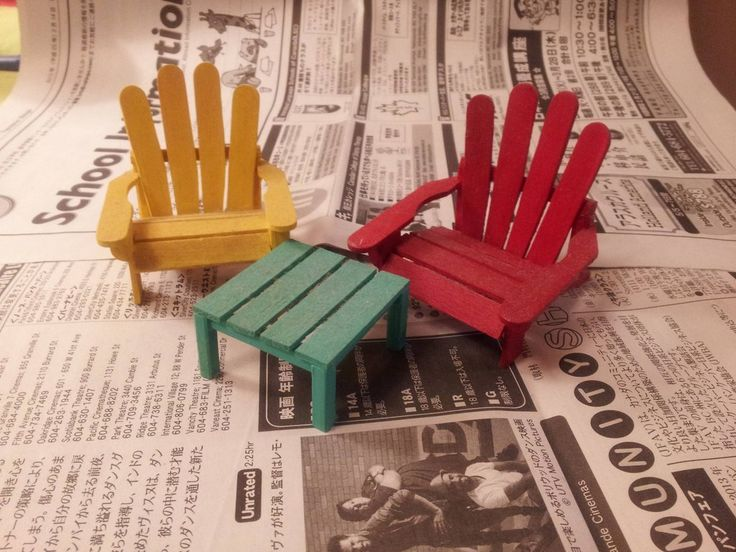 building an adirondack chair trampoline amazon my dad makes lawn chairs out of popsicle sticks   fairy gardens pinterest popsicles, ...