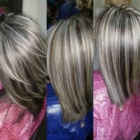 Frosted Gray Hair Dye | frosted gray hair pictures dark ...