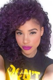 curly purple hair ideas