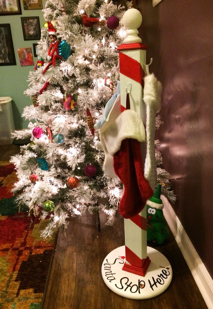 Christmas Stocking Holder Stand.North Pole Christmas Stocking Holder Scrapworklove