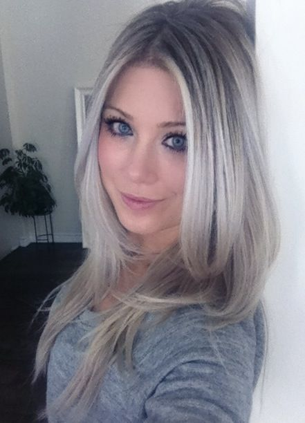 ash blonde ombre hair – let's see how close I can get to this Sunday morning :)