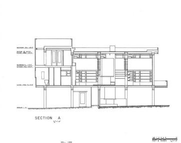 Rudolph M. Schindler, Lovell Beach House, 1926: section