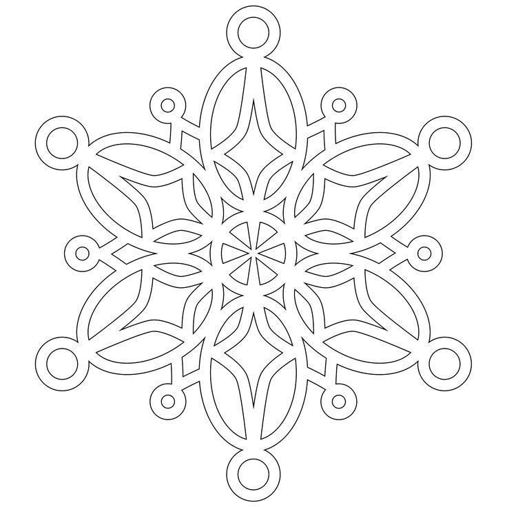 17 Best ideas about Snowflake Stencil on Pinterest