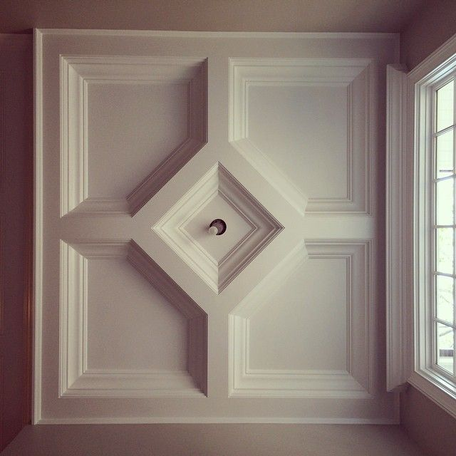akke_woodworkss photo Entry Foyer Coffered Ceiling in