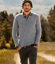 plaid shirt under long sleeve
