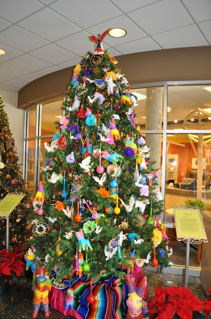 super cute christmas tree with tons of mexican decorations mexicanchristmas christmastree