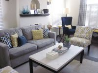 Grey Yellow Blue Living Room