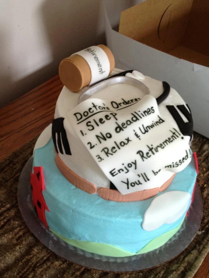 Nurse Retirement Cake Creative Cakes By Melissa