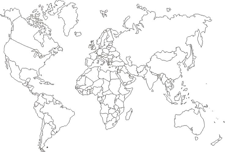 17 Best ideas about Outline Of World Map on Pinterest