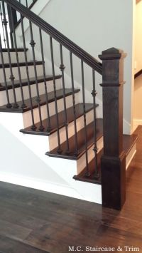 Staircase remodel from M.C. Staircase & Trim. Removal of