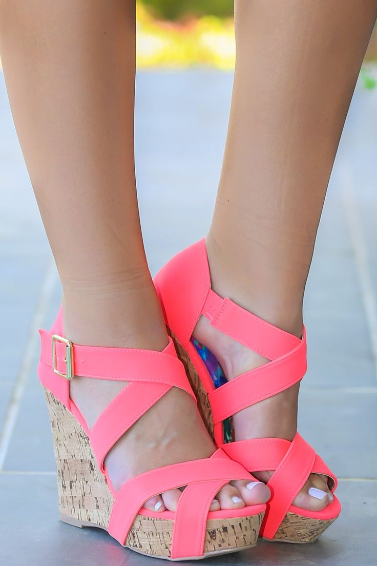 Best 25 Pink Wedges Ideas On Pinterest Coral Wedges