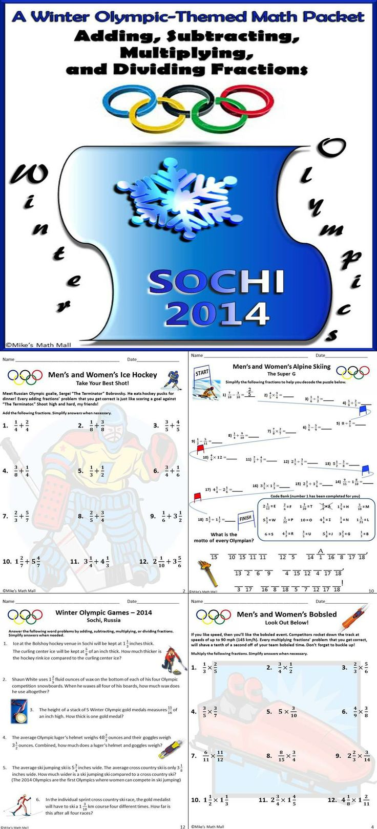 hight resolution of 6th Grade Math Winter Packet Answers 4th grade winter break vacation packet  ccss aligned