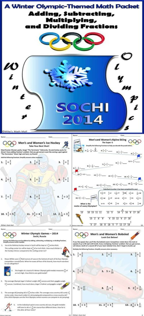 small resolution of 6th Grade Math Winter Packet Answers 4th grade winter break vacation packet  ccss aligned