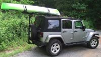 Jeep Kayak Rack for soft top Jeep Hitchmount Rack Sport