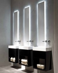 Black and white modern minimalist bathroom Lavamani