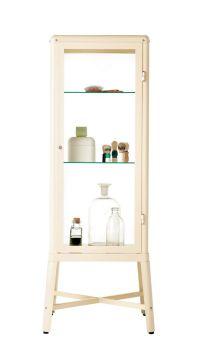 ikea - fabrikor glass-door cabinet   furniture - metal ...