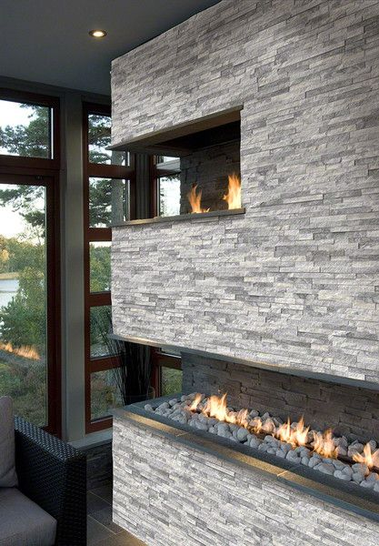 17 Best ideas about Stacked Stone Fireplaces on Pinterest  Stone fireplace mantles Stacked