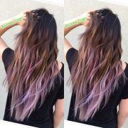 balayage with purple tips