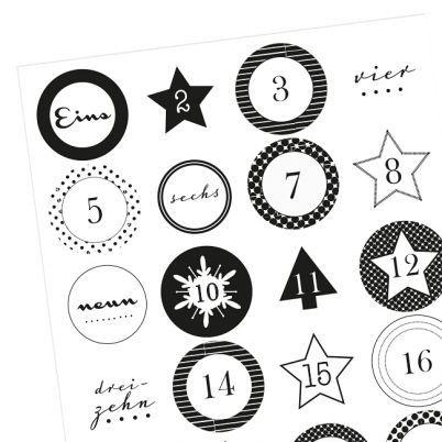 17 Best ideas about Adventskalender Zahlen on Pinterest