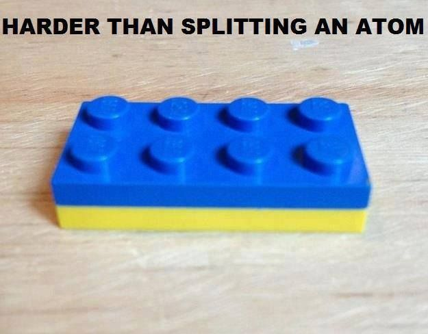 Harder than splitting an atom